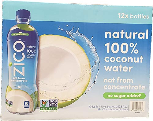 Zico Coconut Water Bottel 12/16.9 Fl Oz Net Wt 202 .8 Fl Oz, 202.8 fl. oz.