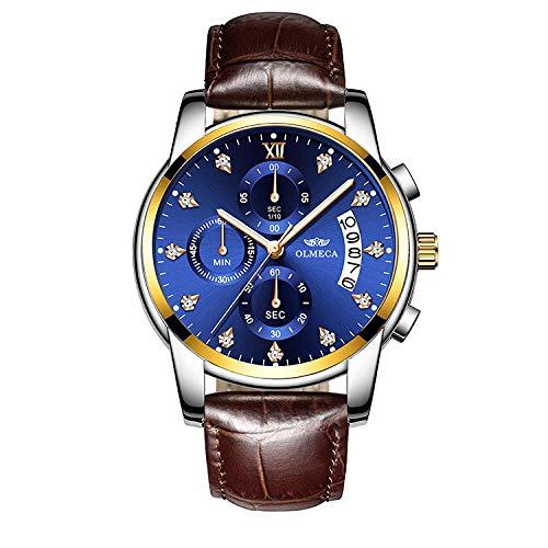 Relojes de Pulsera de Negocios de Moda de Cuarzo a Prueba de Agua de Acero Inoxidable para Hombre para Hombres-E