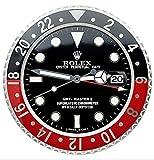 Rolex Replika Wanduhr Motiv Rolex GMT Coke rot schwarz