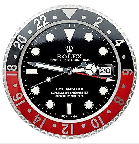 Rolex GMT Coke - Reloj de pared, diseño de réplica, color rojo y negro