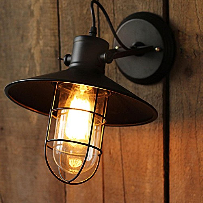 Eisen Kunst Industrial Style Wandleuchte Lampe Wandbeleuchtung Wandleuchte Edison Lampe E27 Sockel Für Haus Bar Restaurants Café Club Dekoration (110-220 V)