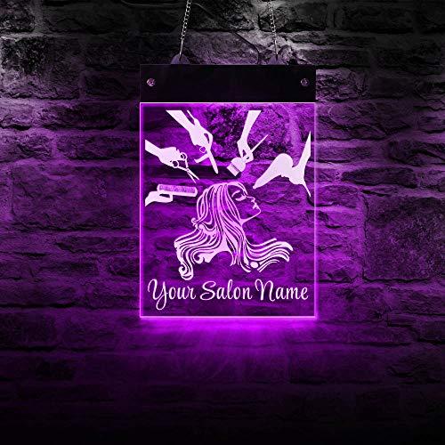 Hair Stylist Hairdresser Custom LED Lighted Acrylic Display Sign Barber Shop and Beauty Salon...