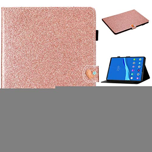 MDYHMC YXCY AYDD para Lenovo Tab M10 Plus X606F Glitter Powder Hebilla Hebilla Horizontal Flip Funda con Soporte y Ranuras de Tarjetas (Color : Rose Gold)