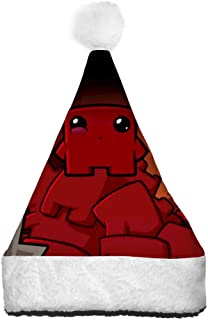VSHFGC Christmas Hat Super Meat-Boy Santa Hats Plush Xmas Hat Decoration Party Supplies