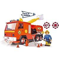Smoby Sam el Bombero - Camión Bombero Júpiter con Sonidos y Luces + 1 Figura