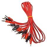 SurePromise - 5 pares de cables con enchufe tipo banana y pinza de cocodrilo para pruebas de 104 cm de largo, para laboratorios, colegios, fábricas