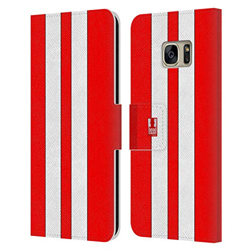 Head Case Designs Roter Rennenwagen Transportmittel Farbig Leder Brieftaschen Handyhülle Hülle Huelle kompatibel mit Samsung Galaxy S7