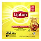 Lipton Tea Bags For A Naturally Smooth Taste Black Tea Can Help Support a Healthy Heart 24.9 oz 312 Count, Yellow