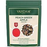 VAHDAM, tè freddo alla mela verde pesca | 40 porzioni, 8 quarti | Ingredienti naturali al 100% | Sapore delizioso di tè Oolong e frutta tropicale | Tè freddo alla pesca | 100gr (Set di 2) dall'India