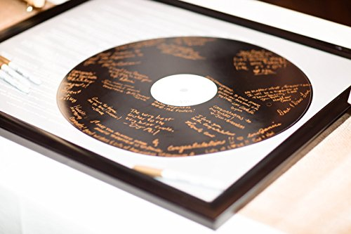 Realistic Record Wedding Song Guest Book Alternative -First Dance Lyrics - Couples Shower Guestbook - Vinyl Record Guest Book Print - You Provide Song Lyrics - Unframed -20x24 - Approx. 50-100 Sigs