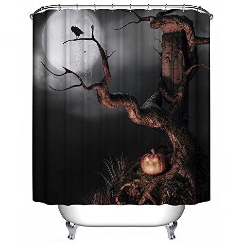 Harson und Jane Halloween Wasserdicht & mildewproof Polyester Duschvorhang Größe 180× 180cm oder 180× 200cm inkl. 12weiß Duschvorhang Haken, Polyester, 07, 180×180cm(70inch)