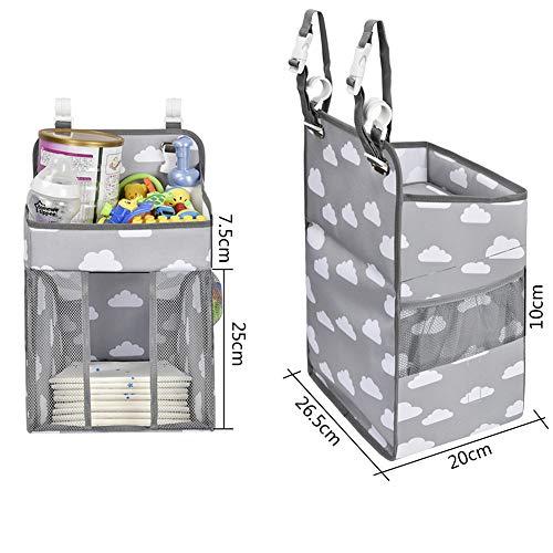 QD-SGMPベビーベッド収納折りたたみ式吊り袋ベビー用品収納ウォールポケット大容量多機能水洗い可能多機能旅行出産準備