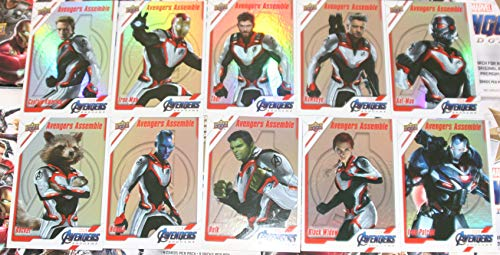 2020 Marvel Avengers Endgame Trading Cards 10-card Avengers Assemble Holofoil Insert Set