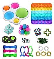 21パックフィジットおもちゃセット、子供や大人のための格安感のフィジットのおもちゃパック、シンプル - ディンプルフィジットのおもちゃ、ストレスリリーフと不安の道具(反不安ツール)