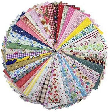 levylisa Tulsa Mall 100 Pieces 6'' x 6''100% Cotton Quilting Printed Max 62% OFF Fabric