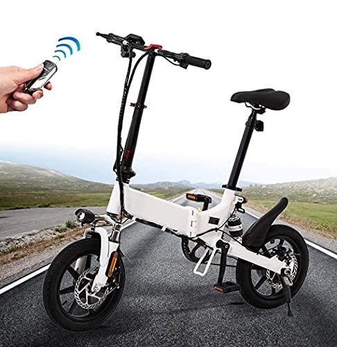 N&I Bicicleta de montaña para adultos de 14 pulgadas, 36 V, Lithium Battery 250 W Bikes Aerospace Grade Aluminum Alloy Folding Bicycle 7,8 Ah 7,8 Ah