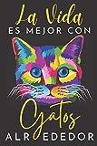 La Vida Es Mejor Con Gatos Alrededor: agenda 2021 gato - agenda 2021 semana vista - planificador semanal y mensual 2021 A5 - agenda 2021 de enero a ... agenda anual 2021 - regalo gatos mujer hombre