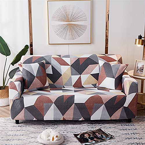 Sofaabdeckung Geometrische elastische Sofaabdeckungen für Wohnzimmer Moderne Sektionale Ecke Sofa Cover Slipcover Couch Cover Chair Protector ( Color : Color 27 , Specification : 1pc 1 Seat 90 140cm )