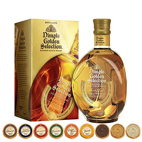 Dimple Golden Selection Scotch Whisky + 9 Edel Schokoladen in 9 Sorten