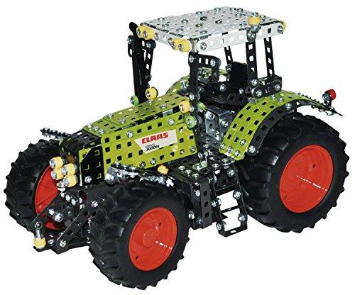 Tronico 10060 - Metallbaukasten Traktor Claas Axion 850, Profi Serie, Maßstab 1:16, 1012-teilig, grün