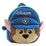Hilloly Paw Dog Patrol Enfant Cartable, Sac à Dos Enfant, Sac à Dos pour Motif bébé Paw Dog Patrol, Préscolaire Bagages Tout-Petits Sac à Dos (bleu)