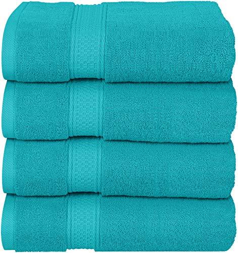 Utopia Towels Luxus-Badetücher, 4er-Pack, 68 x 137 cm, Hotel- und Spa-Handtücher (türkis)