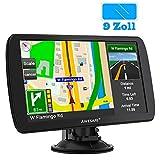 AWESAFE Navigationsgerät für LKW mit 9 Zoll Touchscreen GPS Navi