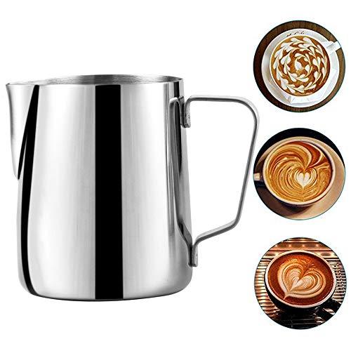 Xinlie Brocca per Schiumalatte Bricco da latte Professionale Brocca Fumante per Caffè Espresso Brocca di Latte Barista Milk Brocca per Latte Ideale per Latte Art e per Schiumare il Cappuccino