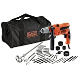 BLACK+DECKER CD714CREW2-QS Perceuse à percussion filaire - 47 600 cps/min - 2...