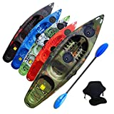 Riber One Person Sit on Top Kayak Starter Pack- Ideal for Beginners - Multiple Colours (Camo)…