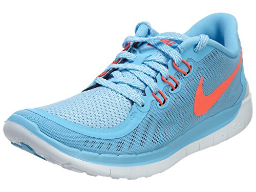 Nike Free 5.0 (GS) Laufschuhe lakeside-bright crimson-blue lagoon- 36,5