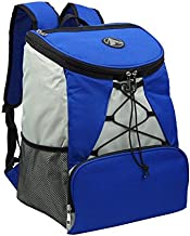 GigaTent Fully Insulated Interior Cooler Backpack 600D Adjustable Padded Shoulder Straps Bungee Cord Leakproof Water Resistant Cooler Extra Storage 2 Mesh Side Pockets for Lunch Picnic Hiking Camping