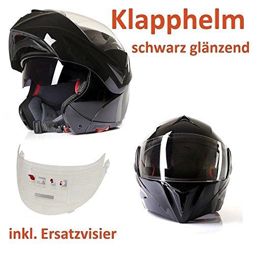 Klapphelm Integralhelm Motorradhelm CMX Spacer schwarz mit Ersatzvisier