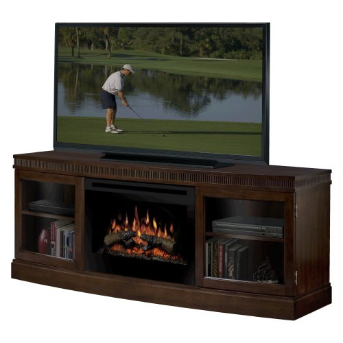 Big Sale Dimplex Wickford Electric Fireplace Media Console in Walnut