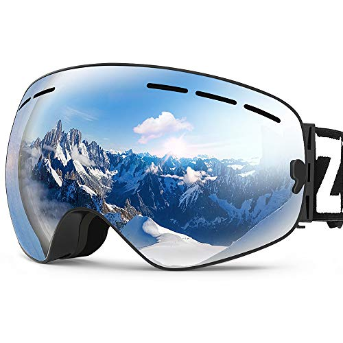 ZIONOR X Ski Snowboard Snow Goggles OTG Design for Men & Women with Spherical Detachable Lens UV...