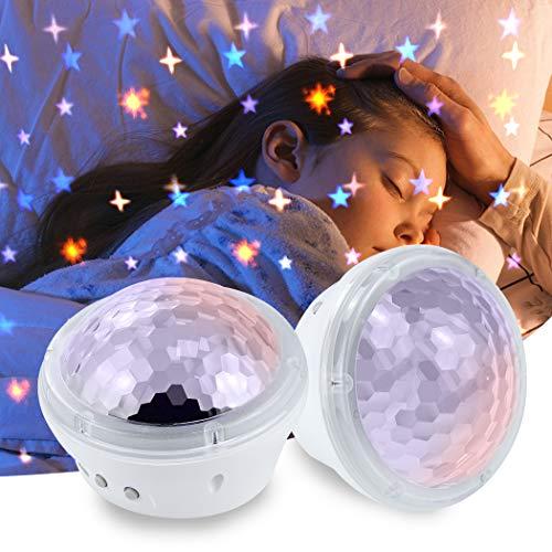 BELLALICHT Sternenhimmel Projektor Nachtlicht Lampe - LED Sternenprojektor mit 4 Modi und Timer, Beste Geschenk für Baby Kinder Dating Stimmungslicht in Schlafzimmer Kinderzimmer