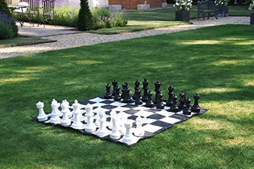 GPWDSN Juego de ajedrez de jardín con tapete de Nailon para Tablero de ajedrez Desarrollo de reuniones Familiares de Entretenimiento...