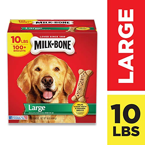 Milk-Bone Original Dog Treats, Cleans Teeth, Freshens Breath, 10 Lb....