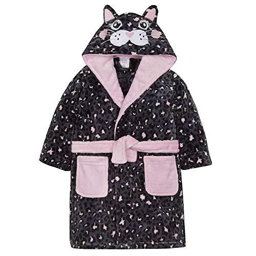 Minikidz The Pyjama Party Filles Chat Noir Peignoir Robe de Chambre 'I Love Chat Naps ' - Noir, 3-4 Ans