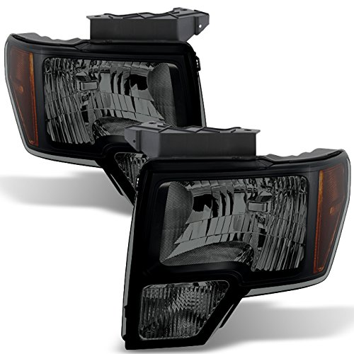 For Black Smoke 09-14 Ford F150 F-150 For Non Projector Headlight Model Pickup Headlight Replacement