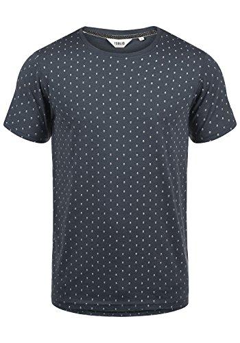 !Solid Aaron Herren T-Shirt Kurzarm Shirt Mit Rundhals-Ausschnitt Und All-Over-Print, Größe:M, Farbe:Insignia Blue Melange (8991)