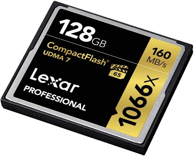 Lexar Professional 1066x 128GB CompactFlash Card, Up to 160MB/s Read, for Professional Photographer, Videographer, Enthusiast (LCF128CRBNA1066)