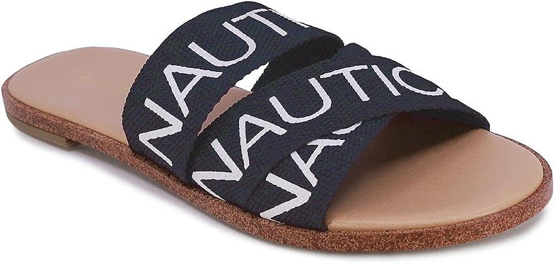 Nautica Women's Athletic Slide, Shower Shoe,Beach Sandal, Boat Slide
