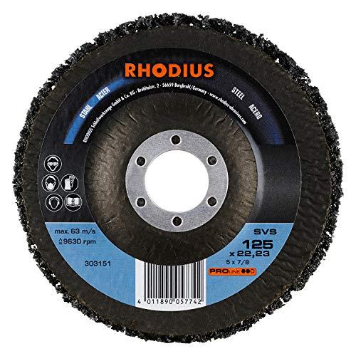 RHODIUS Reinigungsvliesscheiben SVS Ø 125 mm für Winkelschleifer CSD Scheibe 10 Stück