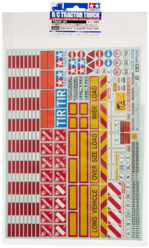 Tamiya- Stickers Camion/REMORQUE Modèle radiocommandé, 56534, Non renseigné