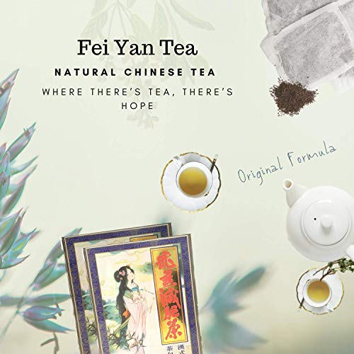 [Original] 4 x 20 Feiyan Tea Bags, Fei Yan Slim Tea Helps Burn Fat, Colon Cleanse, Healthy Weight Management, Constipation, Liver Cleanse, Bloating, Gas, Natural Remedy
