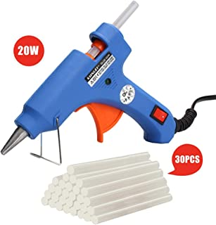Upgraded Mini Hot Melt Glue Gun with 30pcs Glue Sticks, 20 Watt High Temperature Melting Glue Gun for DIY Small Craft Projects, Creative Arts & Sealing and Quick Daily Repairs