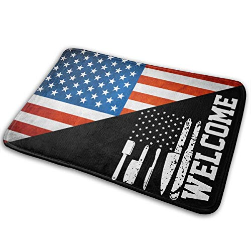 The Best American Chef Flag Indoor/Outdoor Non Slip Doormat For Garage Patio High Traffic Areas Shoe Rugs Carpet