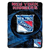 The Northwest Company NHL New York Rangers 'Ice Dash' Micro Raschel Throw Blanket, 46' x 60' , Blue