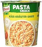 Knorr Pasta Snack Käse-Kräuter-Sauce (ohne geschmacksverstärkende Zusatzstoffe) 65 g, 1 Portion